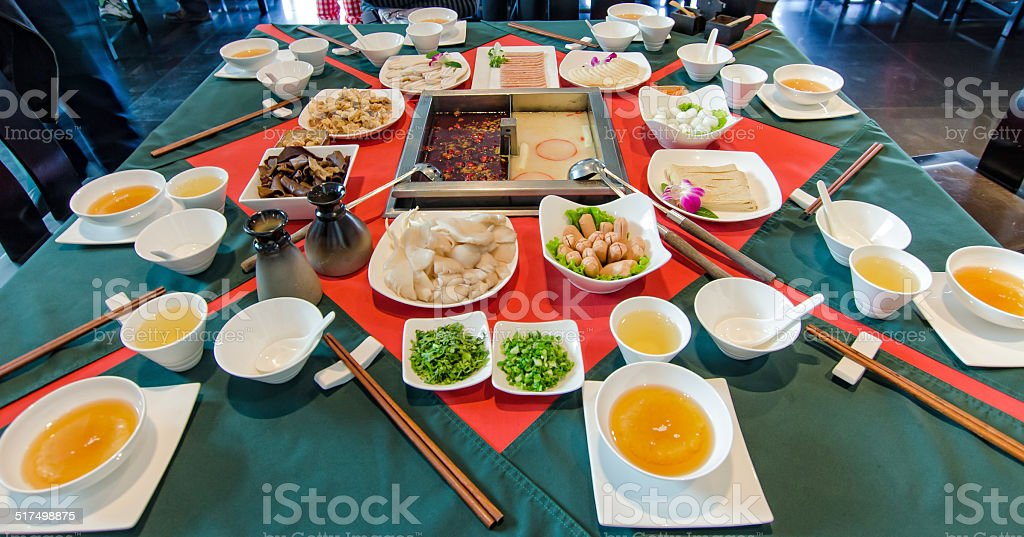Sichuan steamboat stock photo