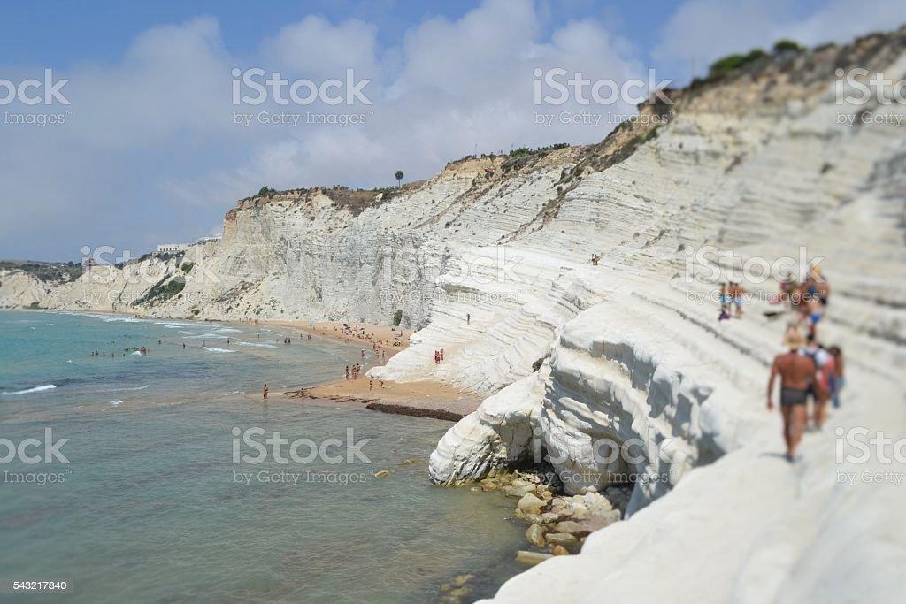 Sicilia, scala dei turchi stock photo