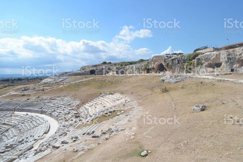 Sicilia, tempio di Siracusa stock photo