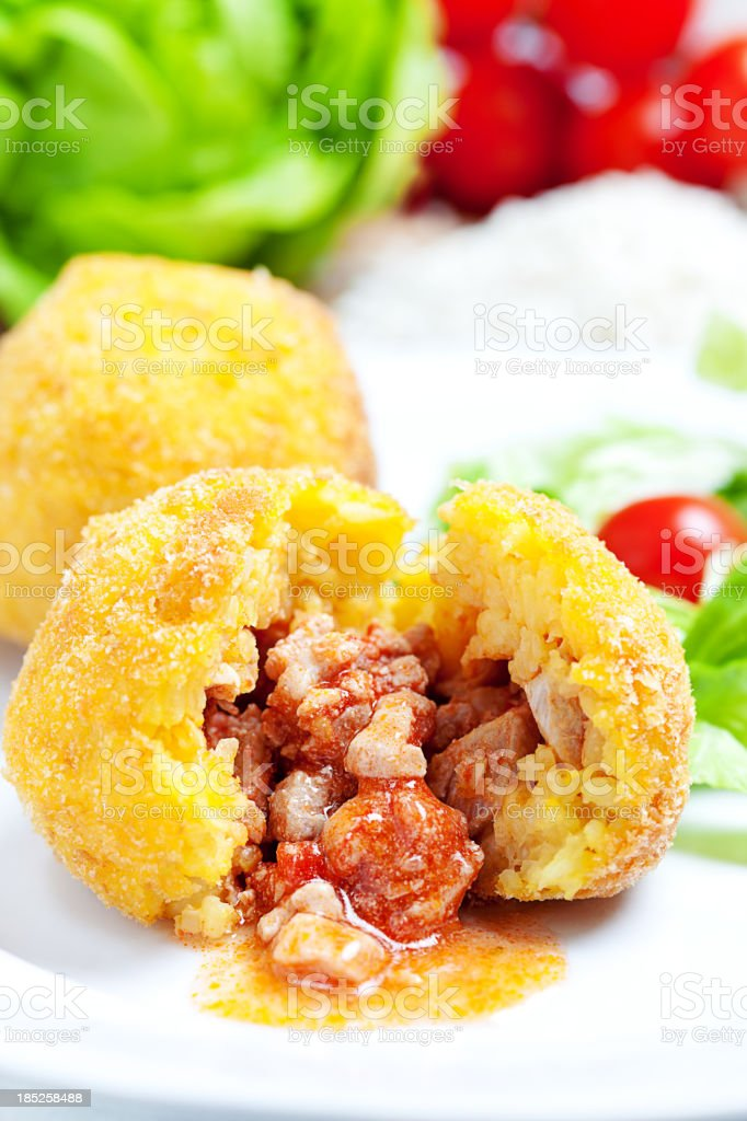 Arancini Siciliani stock photo