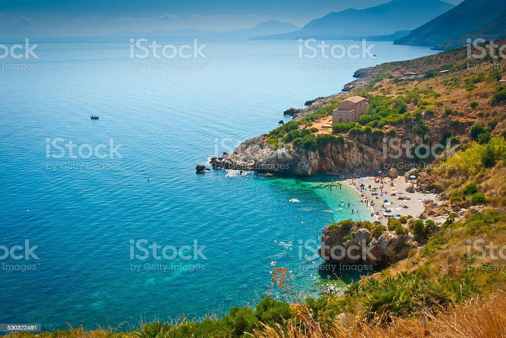 Sicilian Beach stock photo