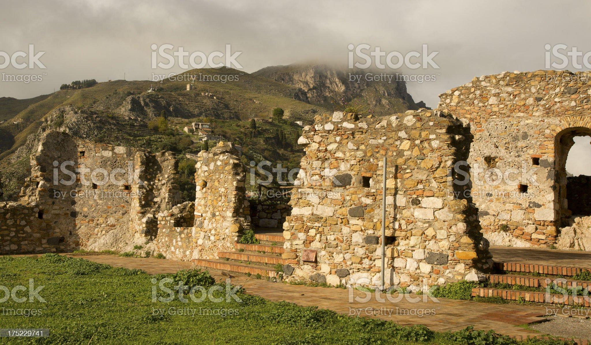 Sicilian Castle royalty-free stock photo