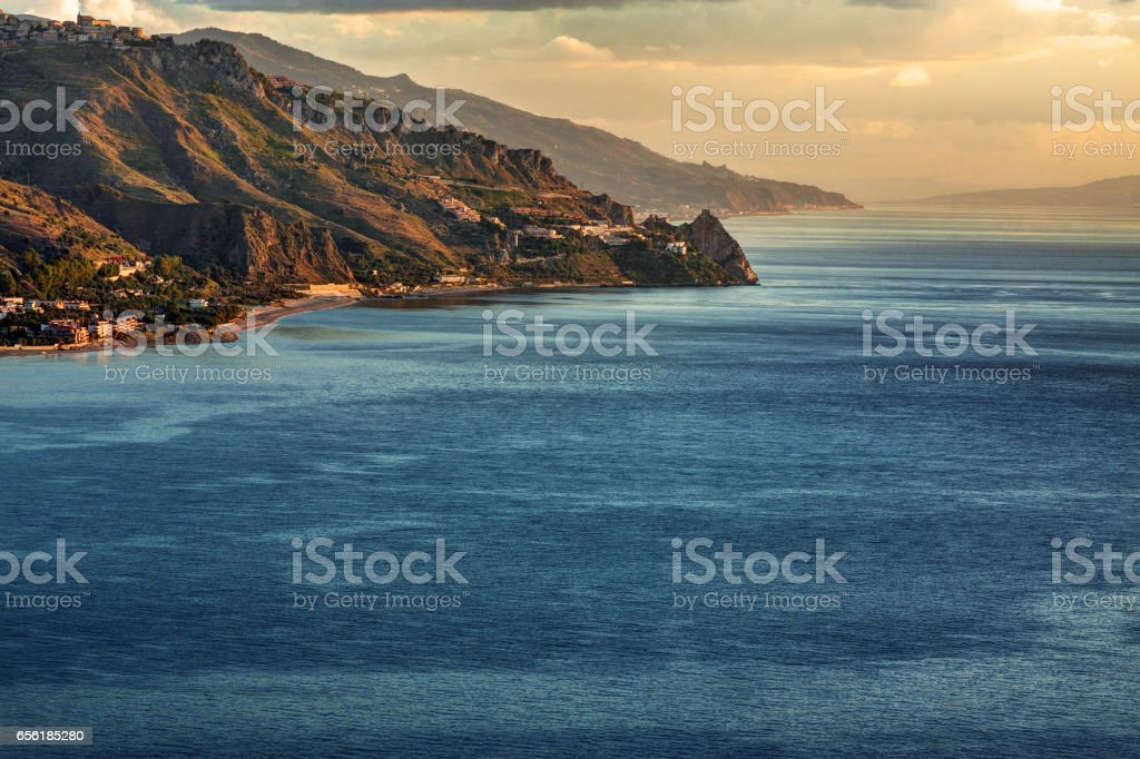 Sicilian coastline. stock photo