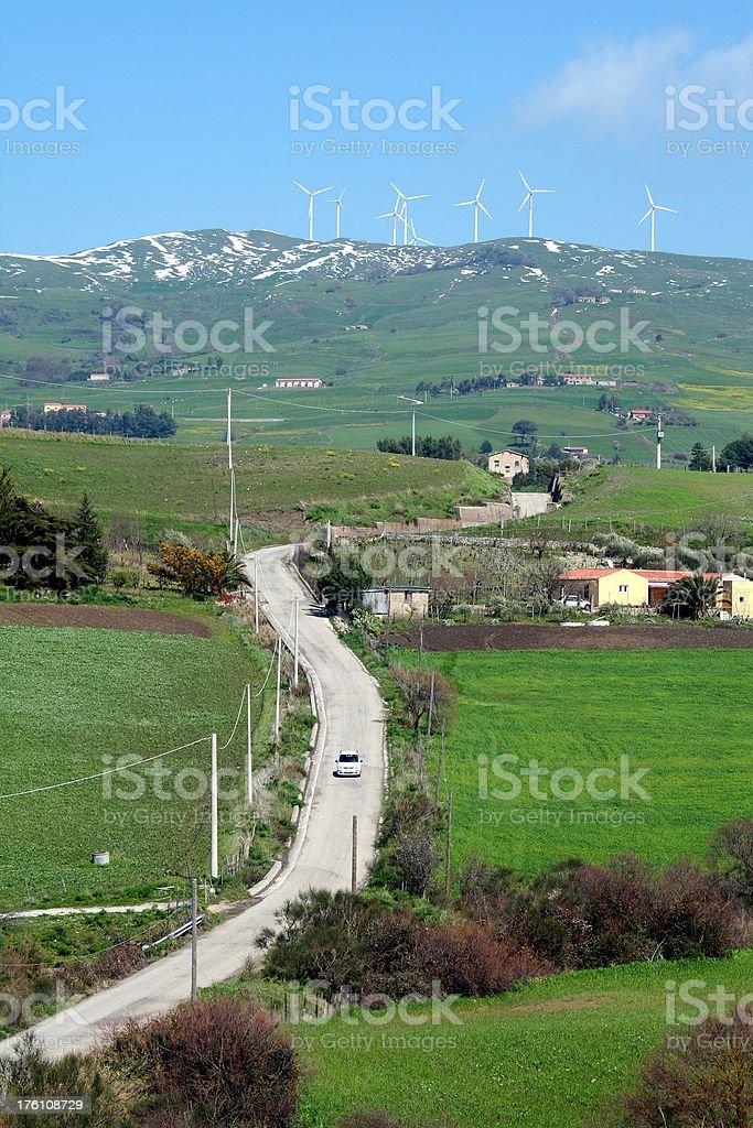 Sicilian countryside royalty-free stock photo