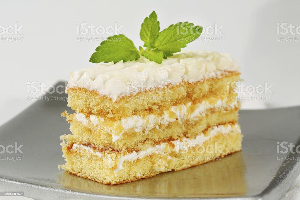 sicilian cream cake stock photo