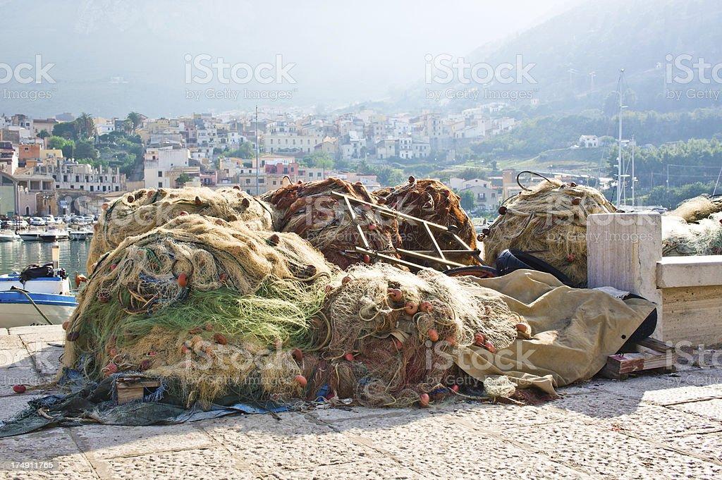 Sicilian Fishing Equipment royalty-free stock photo