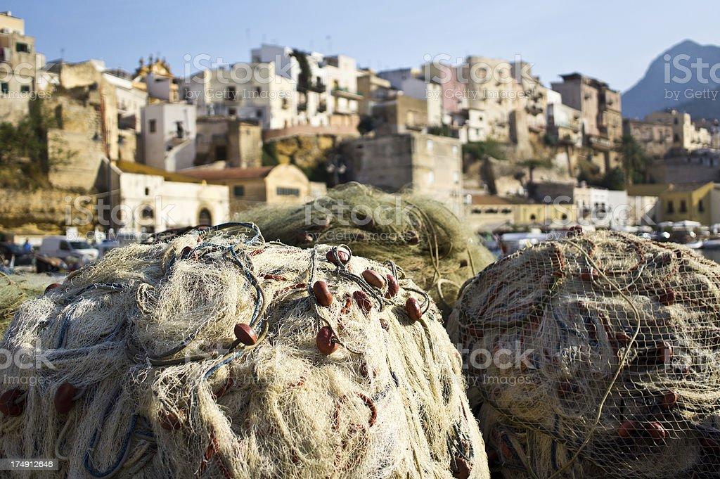 Sicilian Fishing Nets royalty-free stock photo