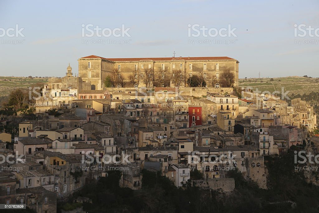 sicilian landscape in Sicily stock photo