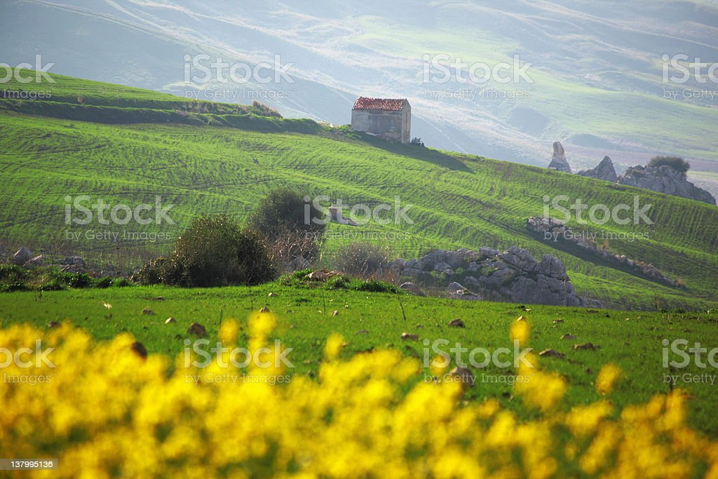 sicilian landscape royalty-free stock photo
