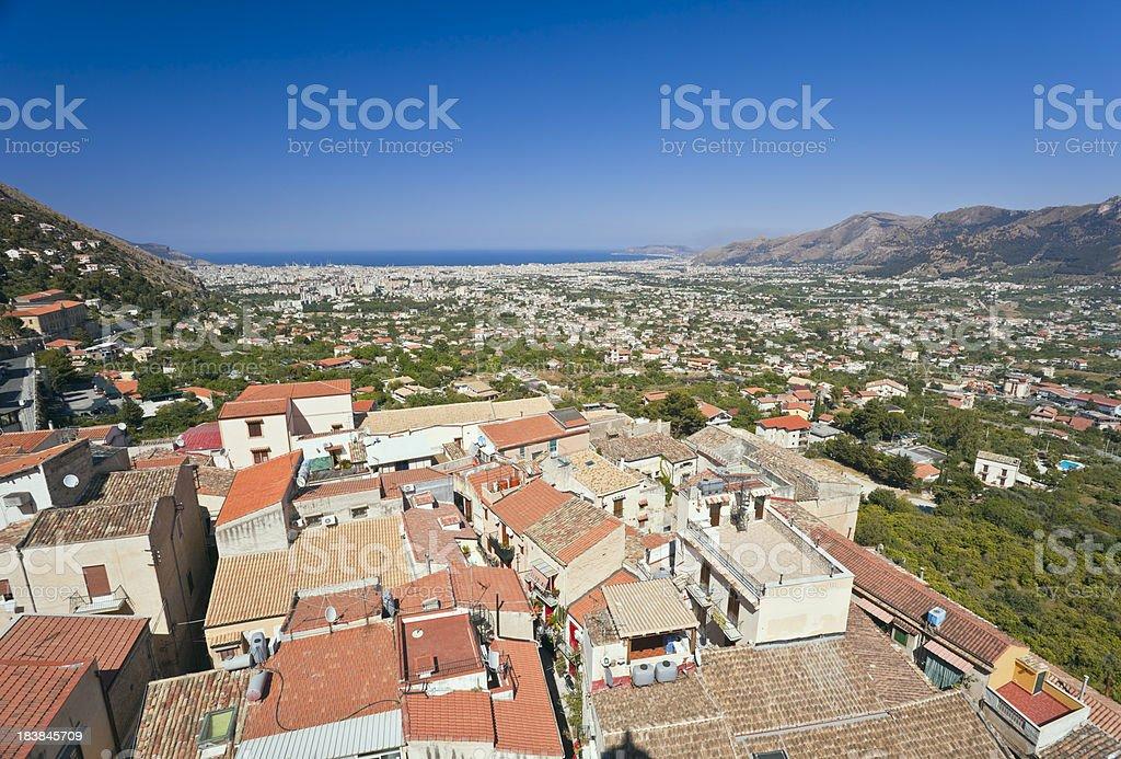 Sicilian Landscape stock photo