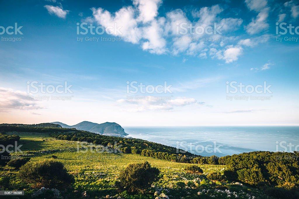Sicilian landscape. stock photo