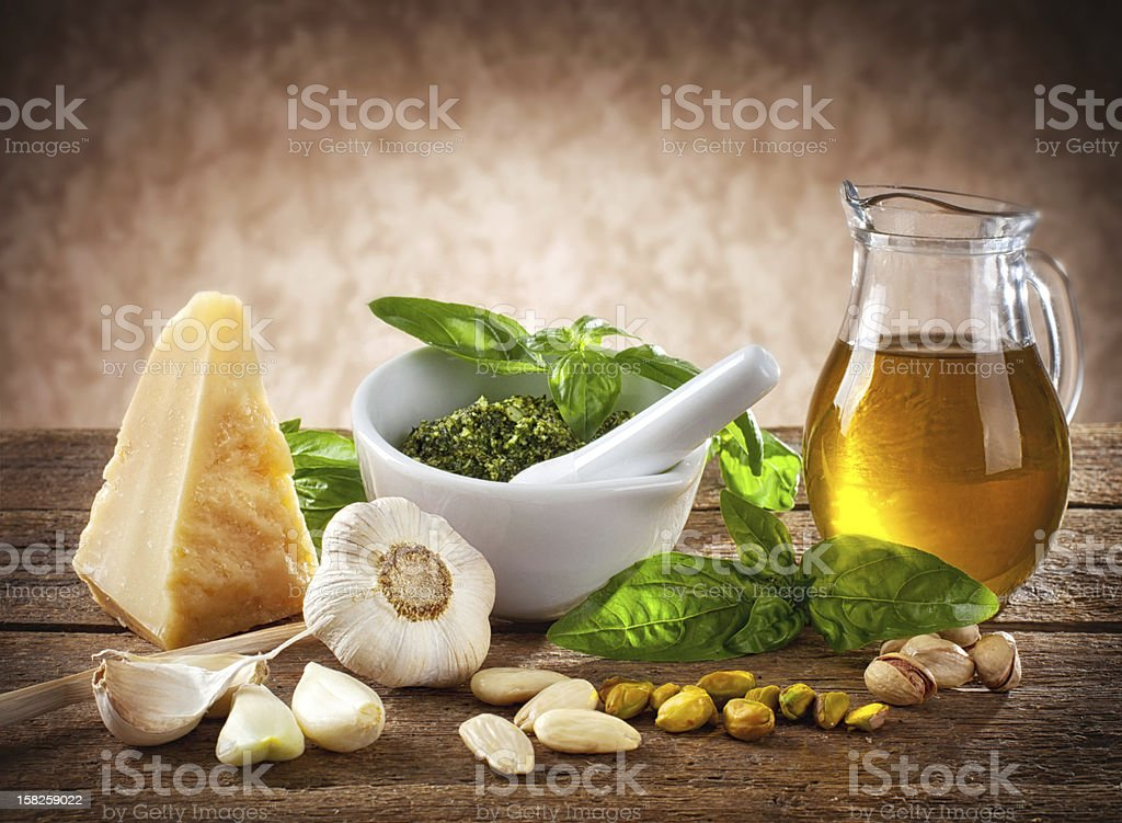 Sicilian pesto royalty-free stock photo