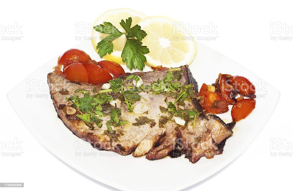 Sicilian red tuna fillet royalty-free stock photo