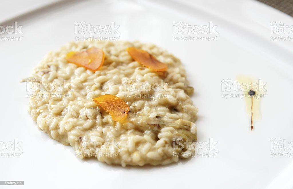 Sicilian risotto with bottarga - cured fish roe royalty-free stock photo