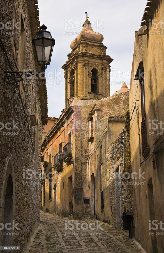 Sicilian street stock photo