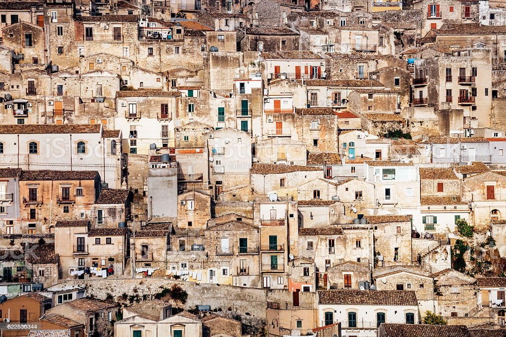 Sicilian town, Modica. stock photo