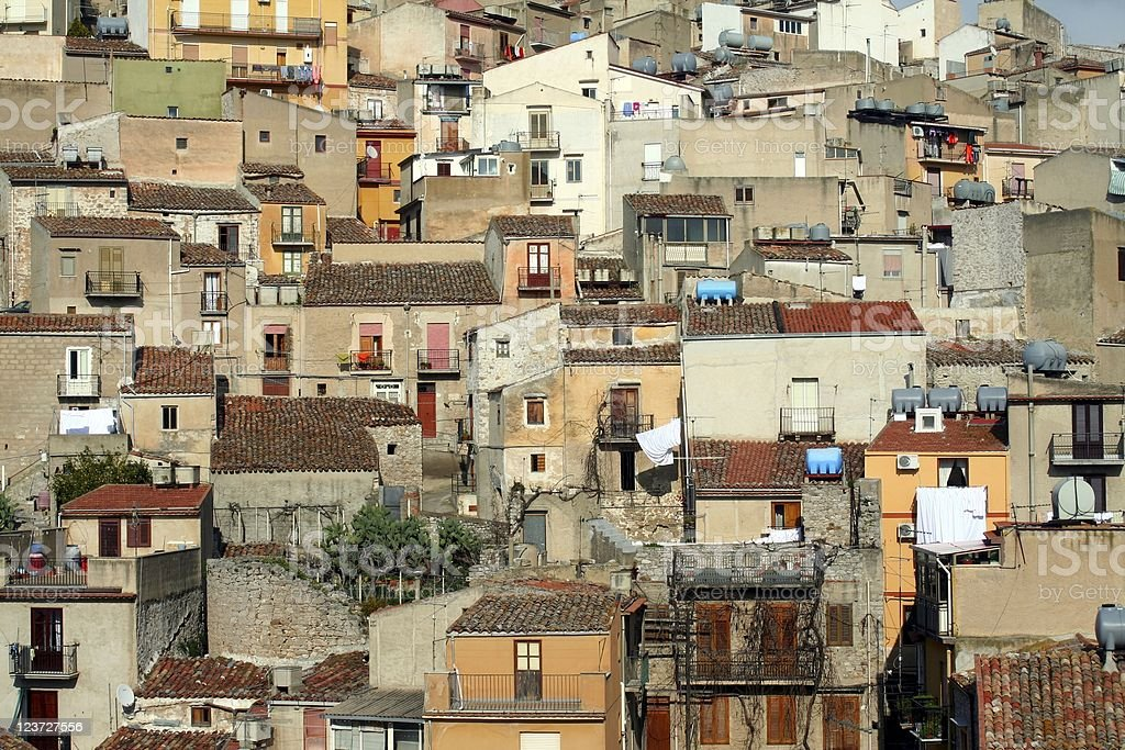 Sicilian town. royalty-free stock photo