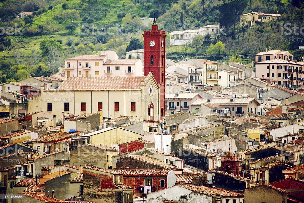 sicilian town royalty-free stock photo