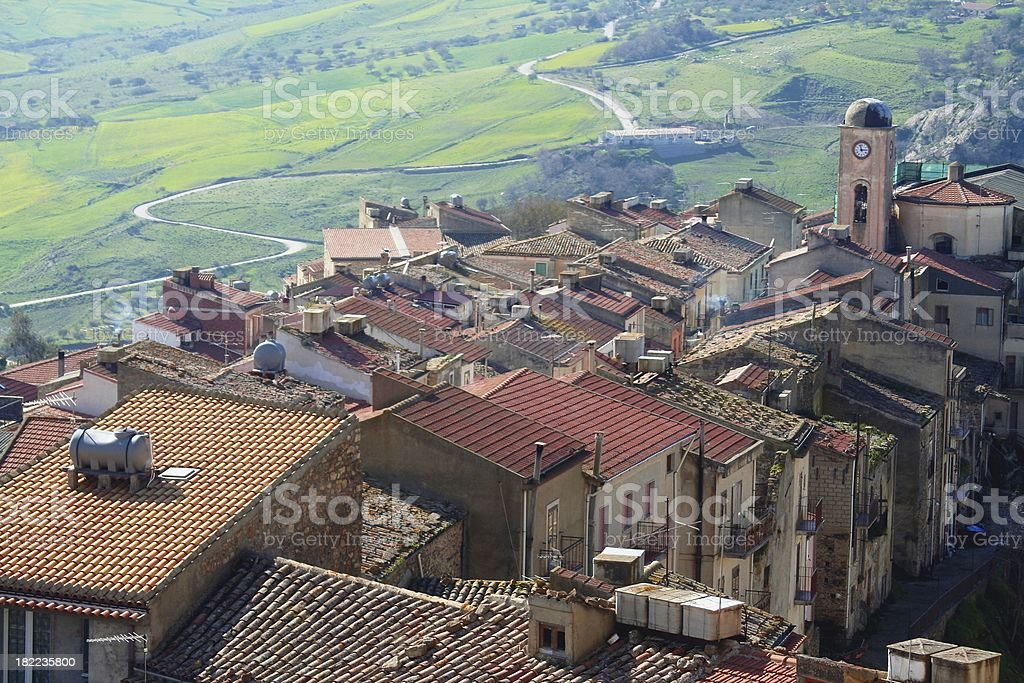 Sicilian village stock photo