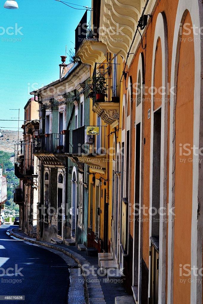 Sicilia's village stock photo