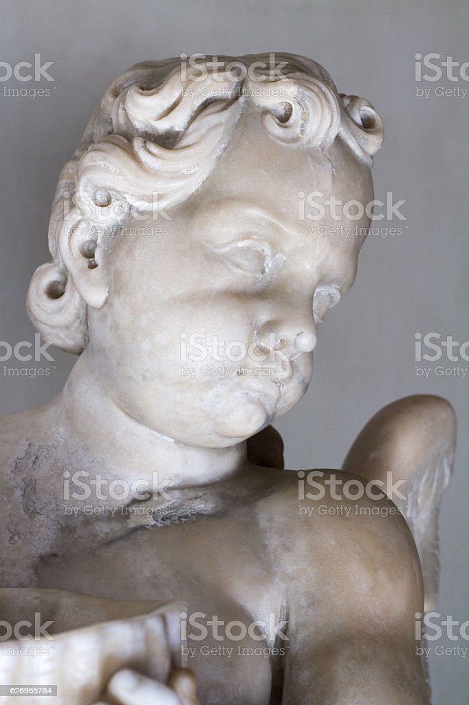 Sicily: 18th-Century Baroque Cherub (Close-Up Detail) stock photo