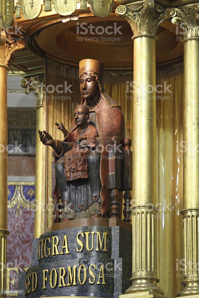 sicily - cefalu black Madonna Monastir stock photo