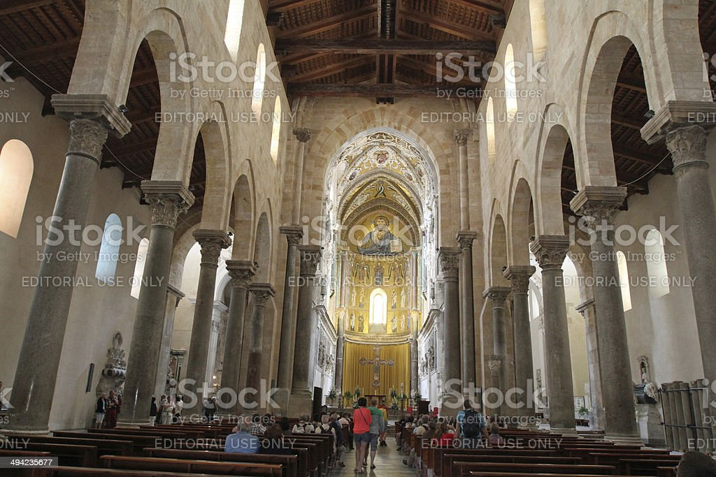 Sicily - Cefalu Cathedral stock photo