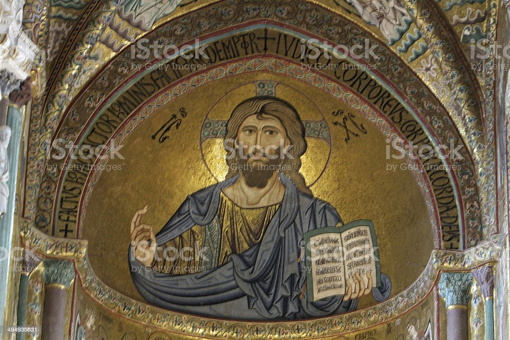Sicily - Cefalu picture of christus stock photo