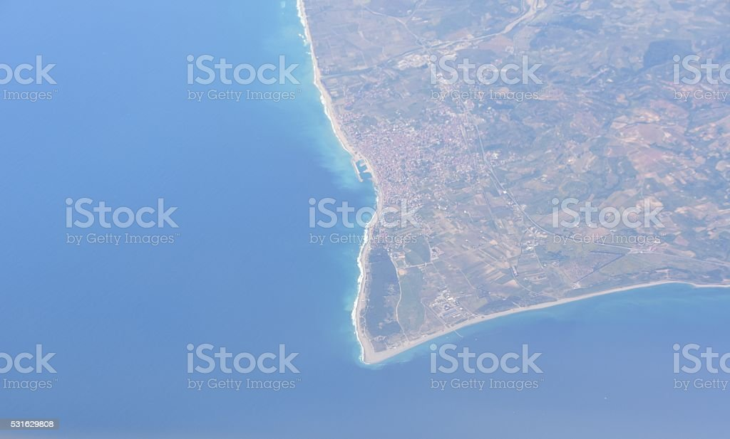 Sicily from the air stock photo