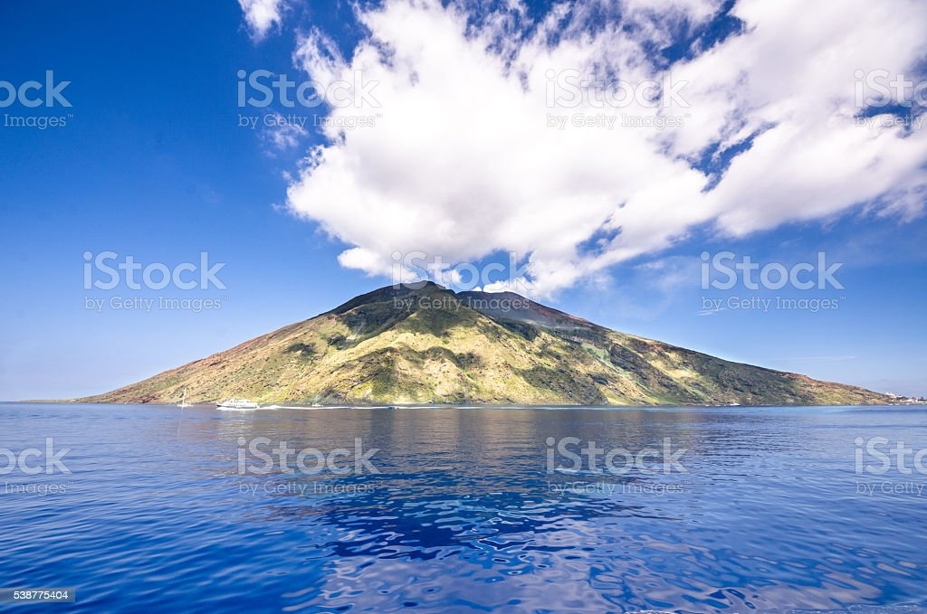 Sicily island in a sunny day stock photo