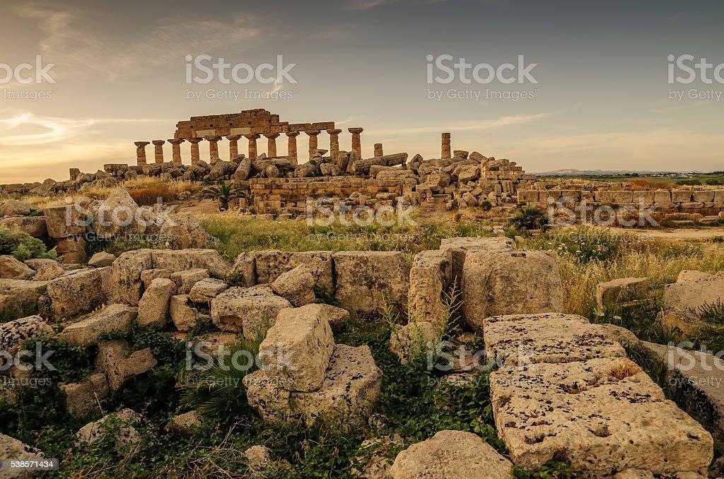 Sicily, Italy: Acropolis of Selinunte stock photo