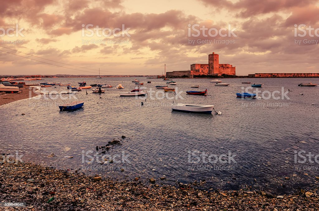 Sicily, Italy: fishermen's harbor in Trapani stock photo