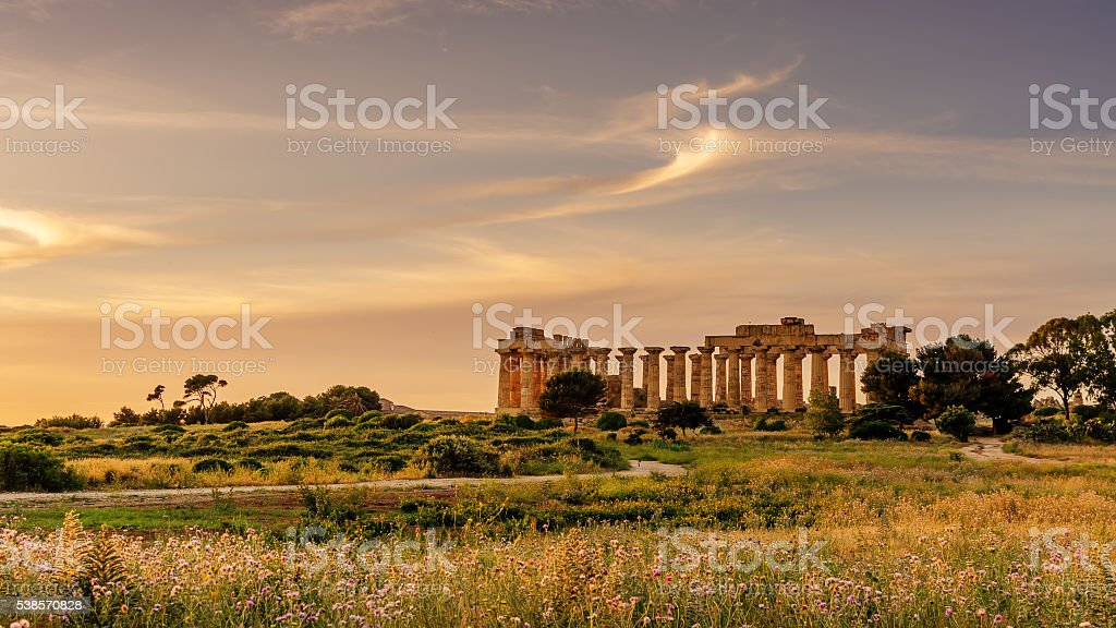 Sicily, Italy: the Temple of Hera at Selinunte stock photo