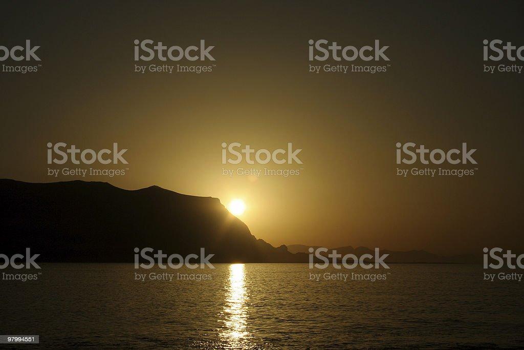 sicily sunset royalty-free stock photo
