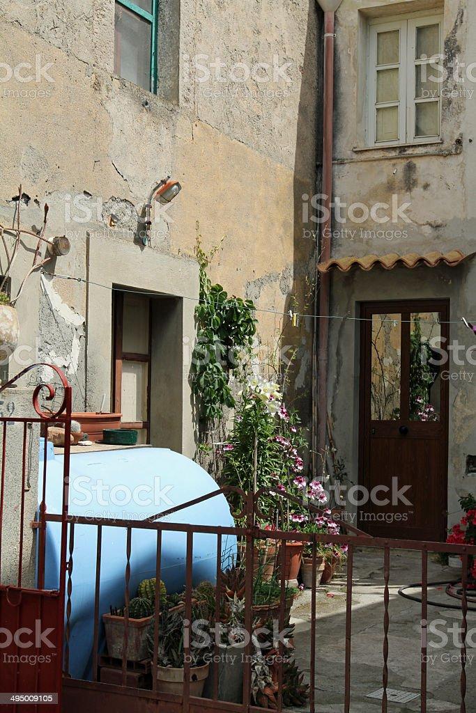 sicily - Tirano black Madonna Monastir villlage stock photo