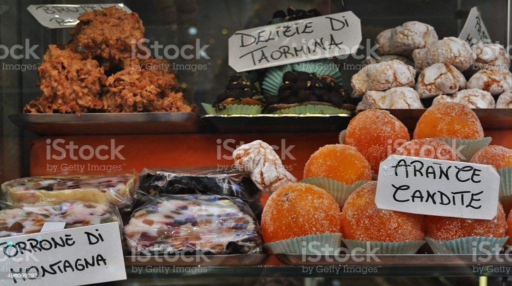 Sicily's sweet food stock photo