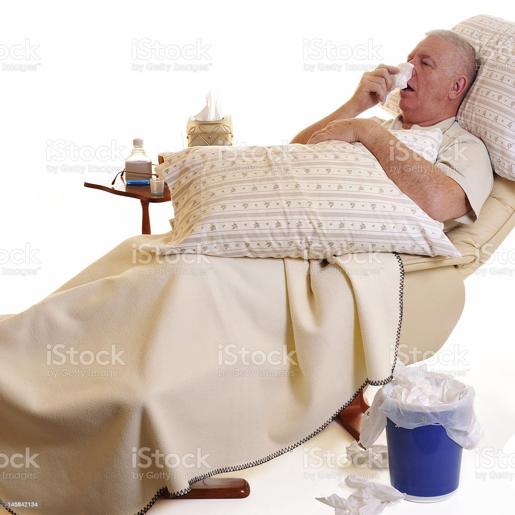 Sick and Sneezing royalty-free stock photo