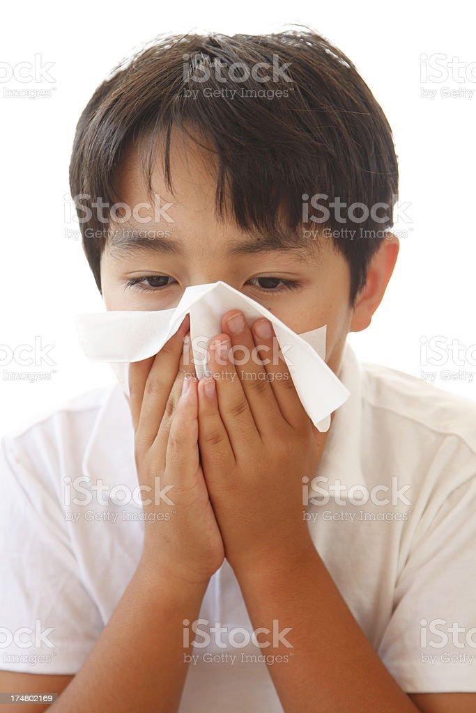 Sick Child royalty-free stock photo
