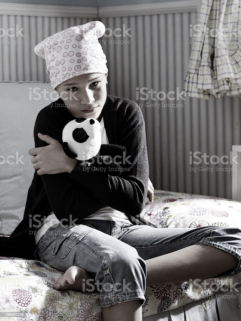 Sick girl royalty-free stock photo