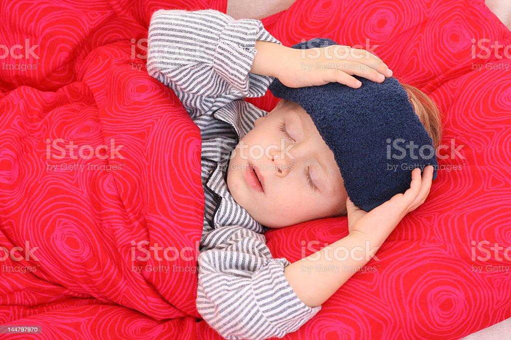 sick kid royalty-free stock photo