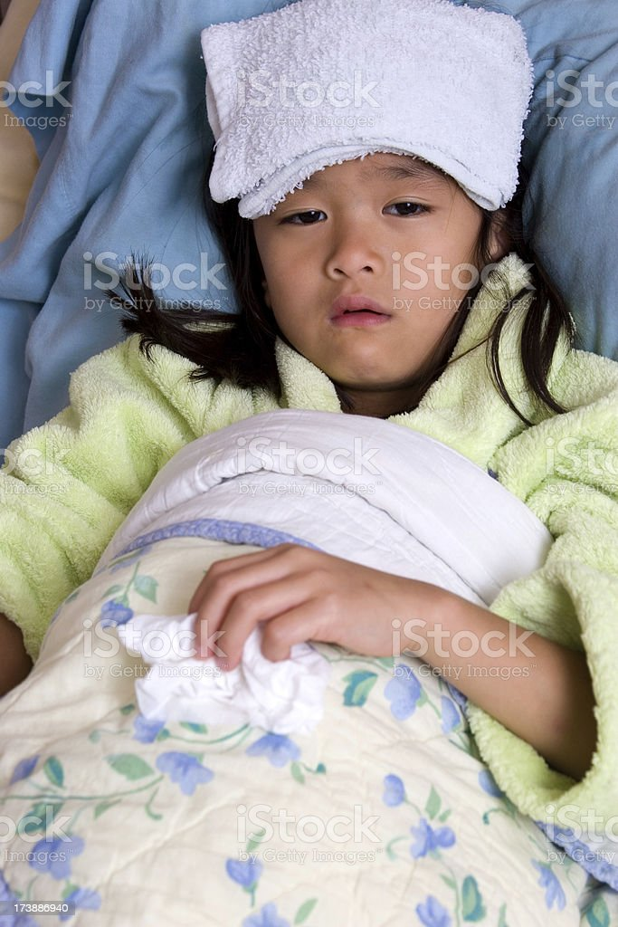 Sick little girl royalty-free stock photo