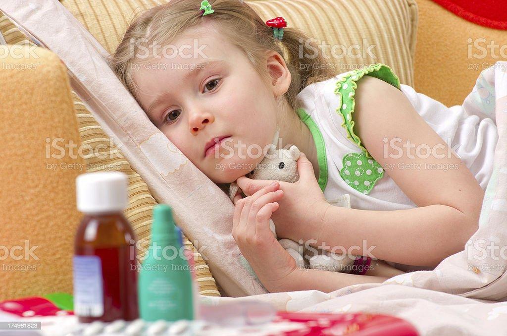 Sick little girl royalty-free stock photo