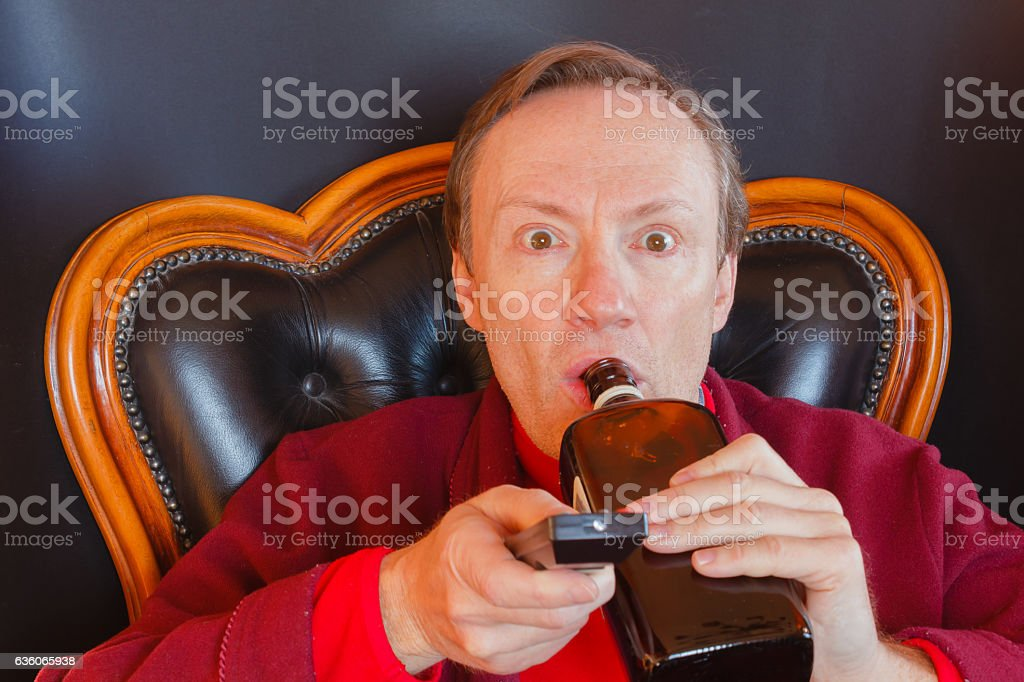 sick man of tv series stock photo