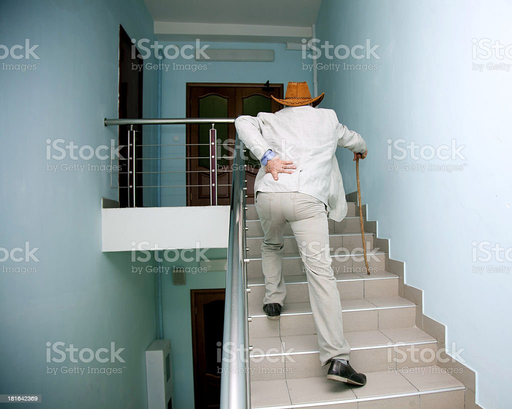 sick old man royalty-free stock photo