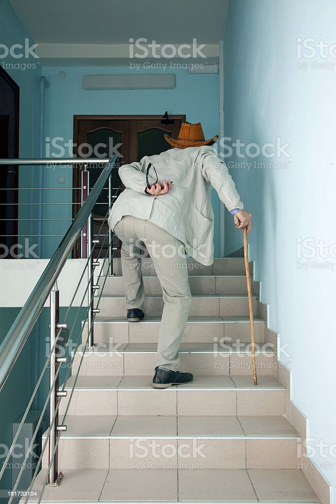 sick old man royalty-free stock photo