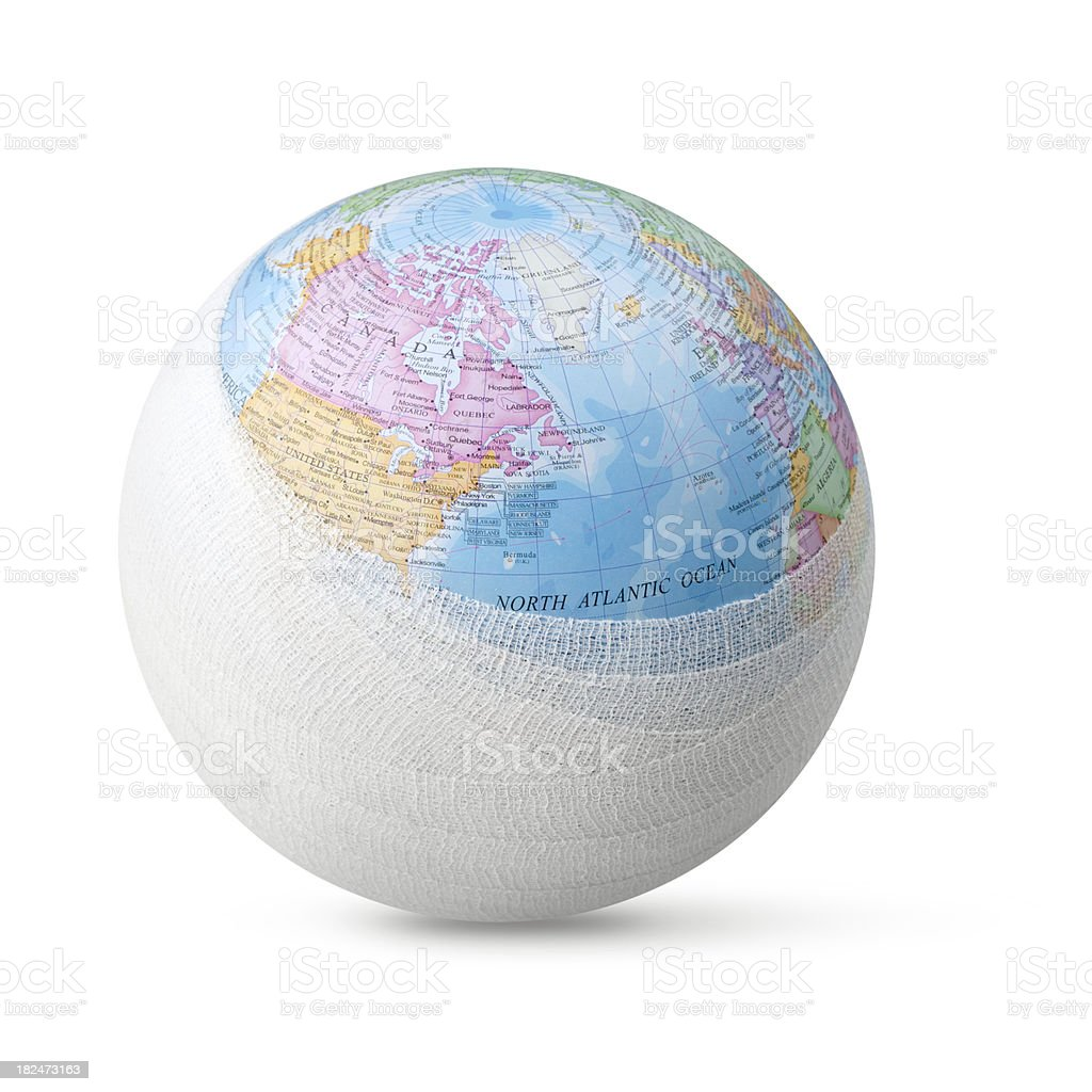 Sick planet earth royalty-free stock photo