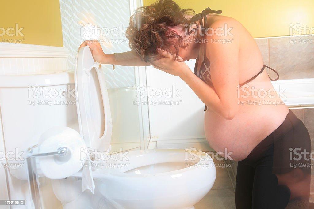 Sick Pregnant Woman Horizontal stock photo