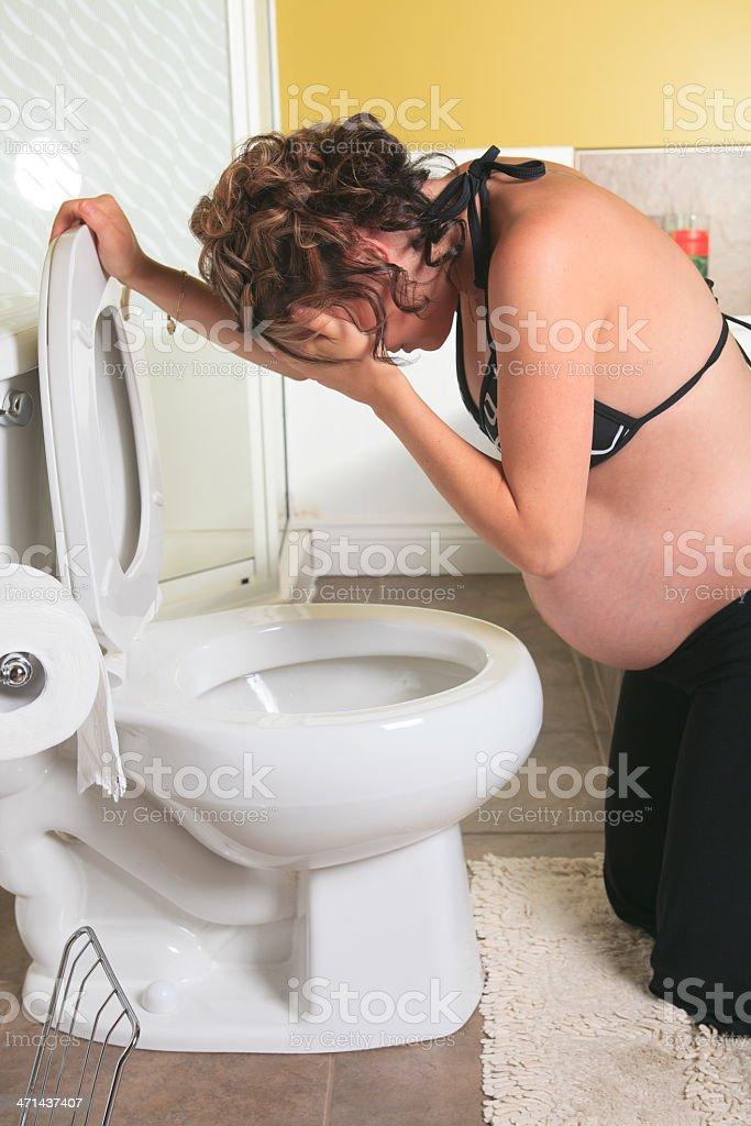 Sick Pregnant Woman Vertical stock photo