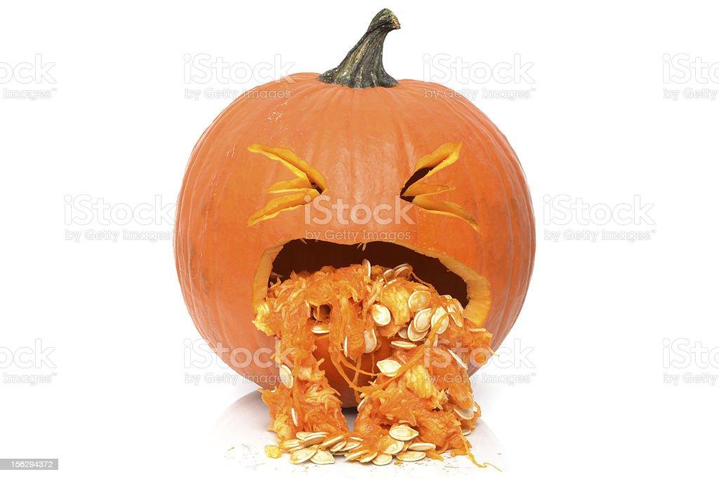 Sick Pumpkin royalty-free stock photo