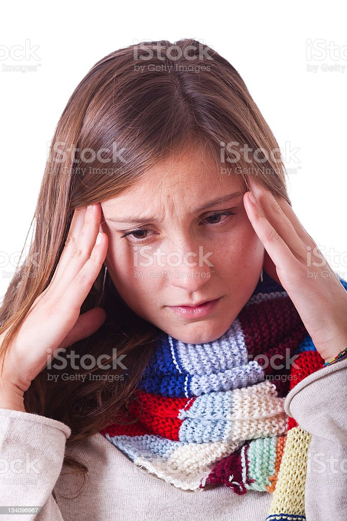 Sick Woman with Headache royalty-free stock photo
